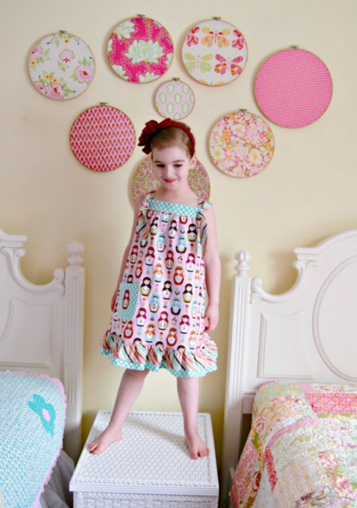 Easy Knot Dress FREE Pattern by Lindsay Wilkes from The Cottage Mama