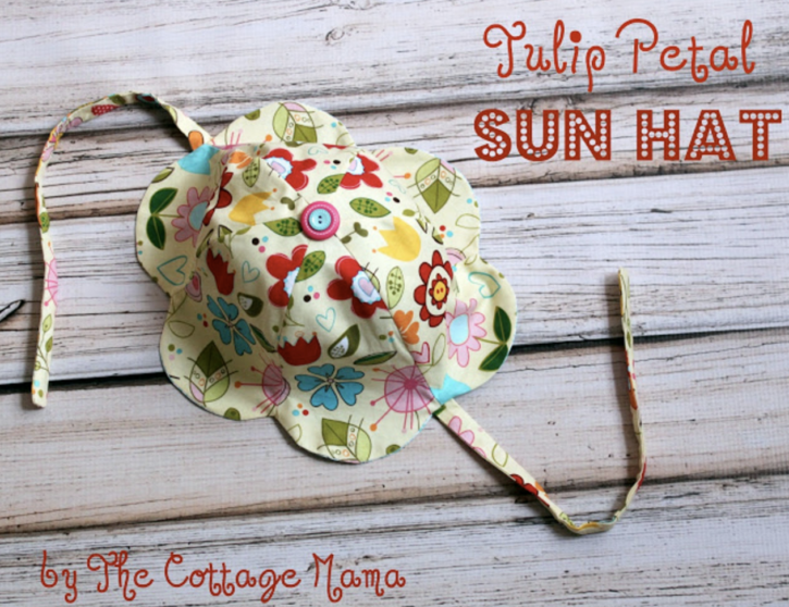 Tulip Petal Sun Hat FREE pattern by Lindsay Wilkes from The Cottage Mama