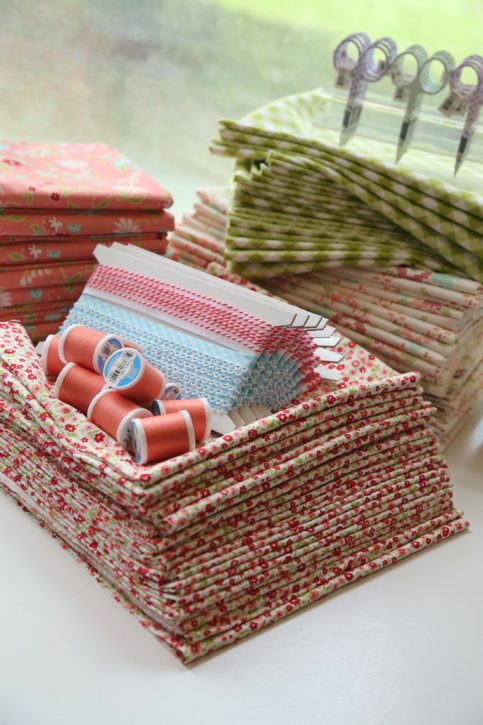 The Cottage Mama Bundle Box. Fabric, Trim, Button and Thread Kits for Sewing!