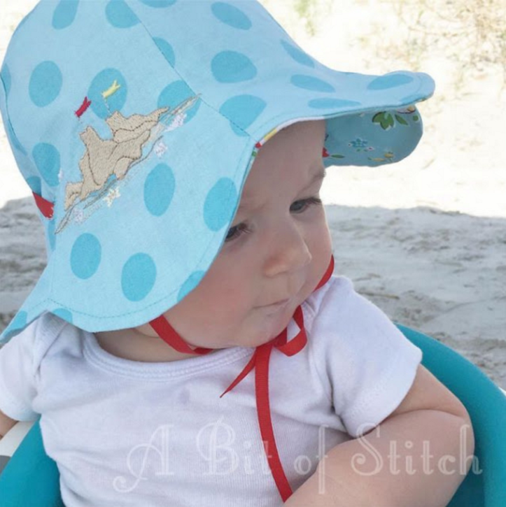 FREE PATTERN: Reversible Tulip Petal Sun Hat. Easy Sewing Tutorial.
