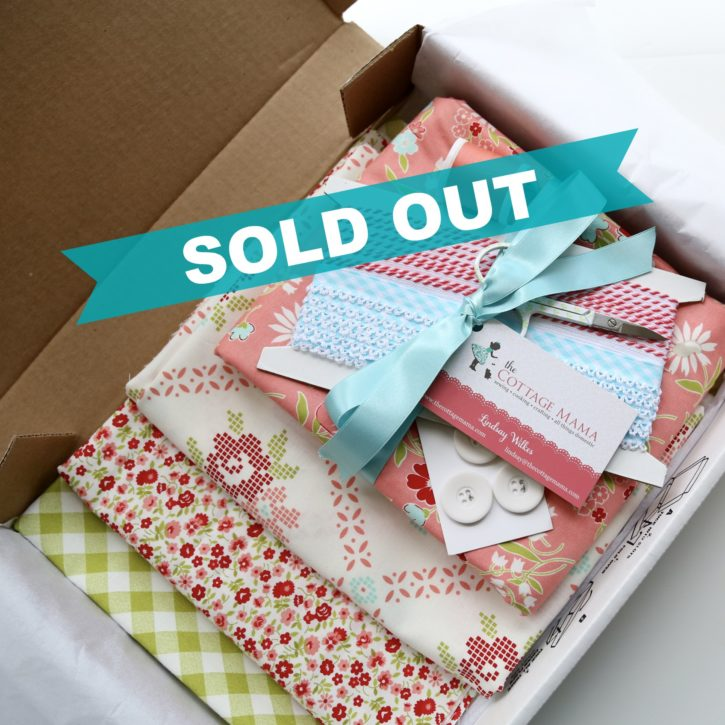 The Cottage Mama Bundle Boxes. Sewing Fabric, Trim and Button Kits.