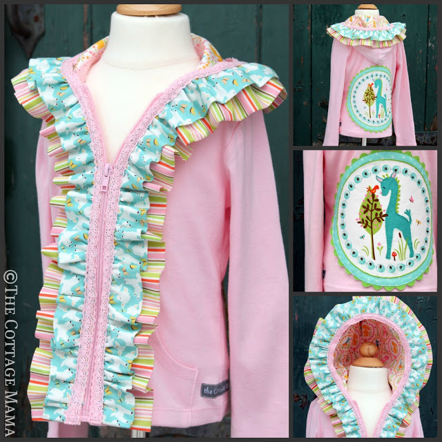Embellished Hoodie Sewing Tutorial from The Cottage Mama.