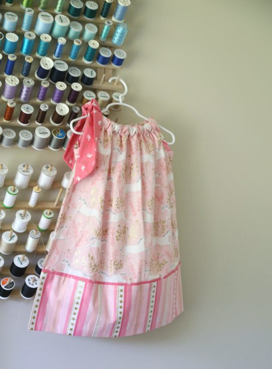 Pillowcase Dress Sewing Pattern from The Cottage Mama. www.thecottagemama.com