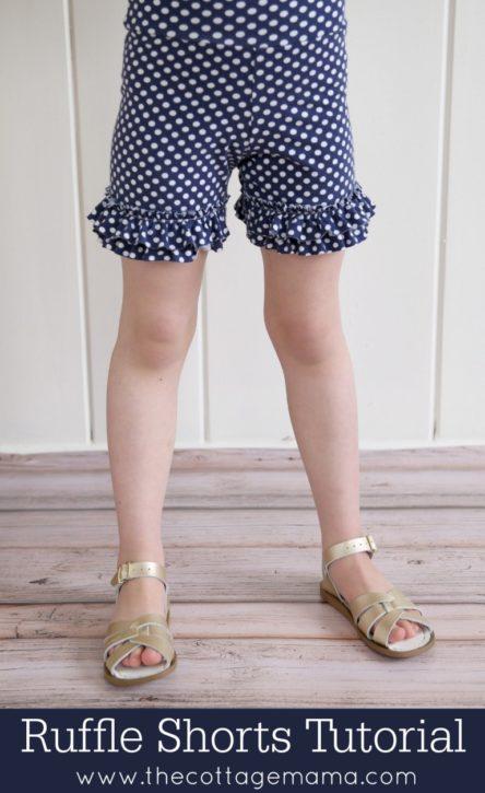 Ruffle Shorts FREE Pattern. The Cottage Mama. Sewing.