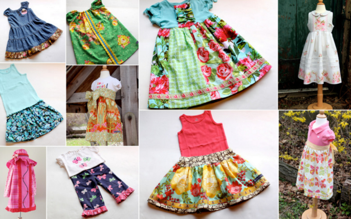 Semi-Handmade Wardrobe from The Cottage Mama. Sewing Patterns.