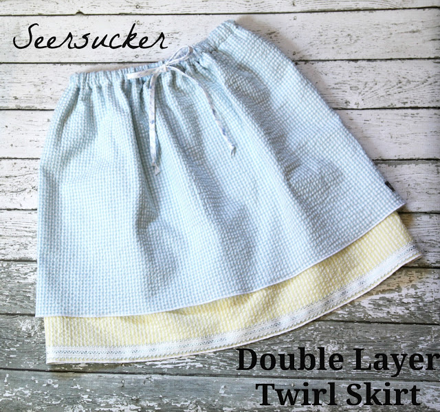 Double Layer Twirl Skirt Free Sewing Pattern from The Cottage Mama. More Back to School Sewing.