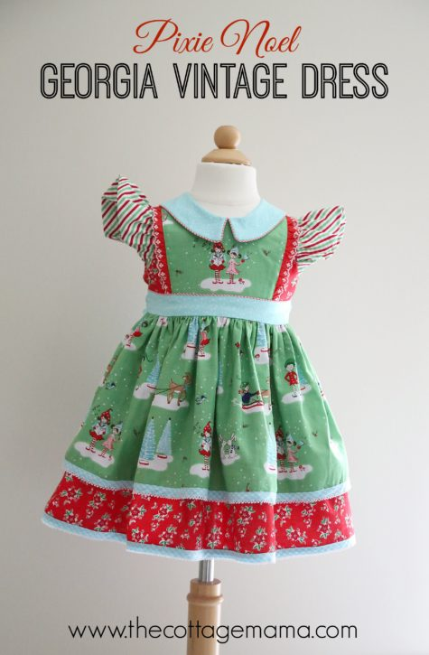 Pixie Noel Georgia Vintage Dress Pattern by Lindsay Wilkes from The Cottage Mama. www.thecottagemama.com