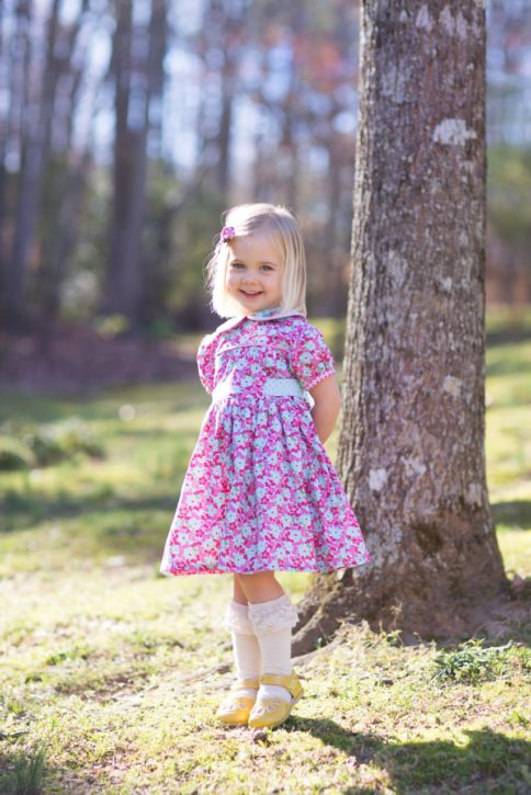Adelaide Dress Pattern (Size 6M - Size 12) from The Cottage Mama.