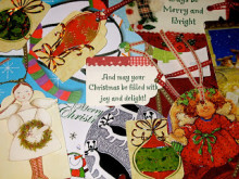 Christmas Tags from Old Christmas Cards