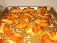 Homemade Soft Pretzels with Honey Mustard Sauce