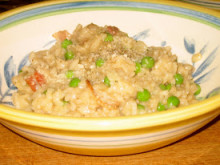 Bacon, Onion, and Sweet Pea Risotto