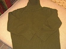 Repurposed Woman's Turtleneck = Sweet Little Girl's Cardigan