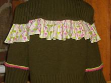 Repurposed Woman's Turtleneck = Sweet Little Girl's Cardigan