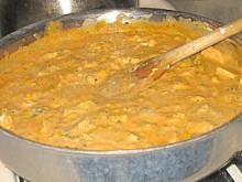 Creamy Chicken Enchilada Casserole & Monterey Jack Cheese Cornbread Muffins