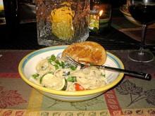 Roasted Vegetable Shrimp Pasta Primavera