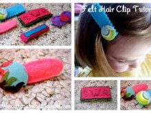 Simple Felt Hair Clip Tutorial