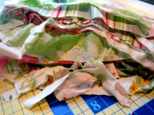 Summer Fabric Rag Wreath Tutorial