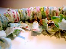 Summer Fabric Rag Wreath Tutorial