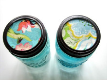 Craft Room Organization: Fabric Lid Jar Tutorial