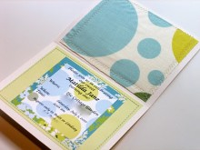 Summer Garden Birthday Party – Fabric Invitations