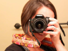Show and Tell: Gathered Ruffle Camera Strap Cover