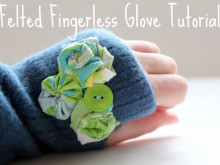 Felted Fingerless Glove Tutorial