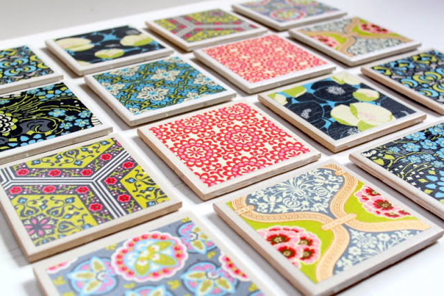 How to Make Your Own Coasters, DIY Coasters, Make Your Own Coasters, DIY Crafts, Craft Projects, Simple Craft Projects, Simple Ways to Make Your Own Coasters, Popular Pin