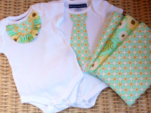 Twin Boy and Girl Onesie Tutorial