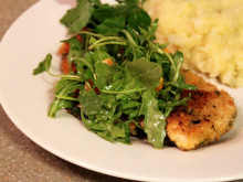 Breaded Chicken Cutlets with Orange and Arugula Salad