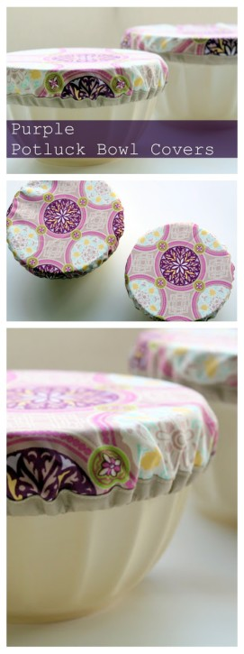 Potluck Bowl Cover Tutorial from The Cottage Mama. www.thecottagemama.com