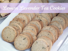 Lemon Lavender Tea Cookies