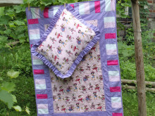 From Grandma with Love…..Cowgirl Princess Quilts and Ruffle Pillows