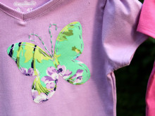 Girls Appliqued Shirts: GO! Baby Fabric Cutter