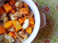 Roasted Butternut Squash with Onions & Garlic ~ Recipe