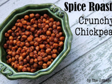 Easy, Healthy Snack ~ Spice Roasted Crunchy Chickpeas Recipe