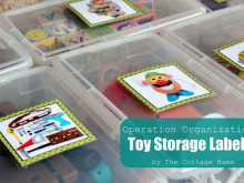 Operation Organization: Velcro Toy Storage Labels