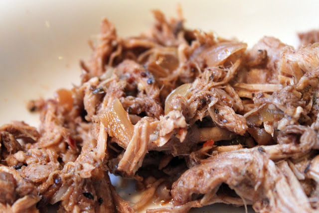 Place pork loin roast in slow cooker and top with onions, garlic ...