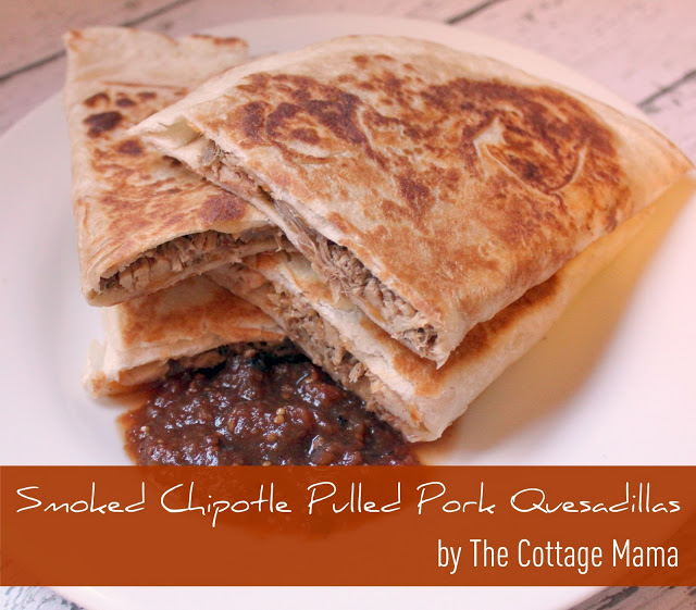Smoked Chipotle Pulled Pork Quesadillas ~ Recipe - The Cottage Mama