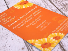 Savannah's Orange Birthday Party ~ The Invitation