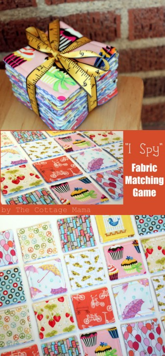 I Spy Fabric Matching Game from The Cottage Mama. www.thecottagemama.com