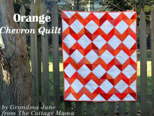 From Grandma with Love ~ Orange Chevron Quilt