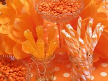 Orange Themed 4th Birthday Party