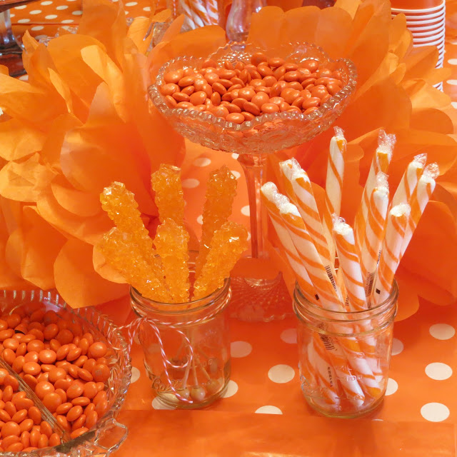 Orange Themed 4th Birthday Party