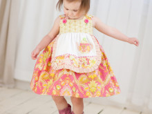 New Pattern from The Cottage Mama ~ Charlotte Apron Dress