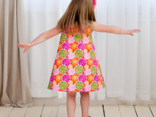 New Pattern from The Cottage Mama ~ Ruby Ruffle Dress