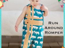 New Sewing Pattern from The Cottage Mama: Run Around Romper for Boys and Girls