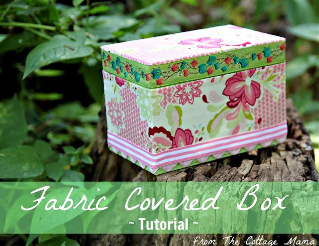 Diy craft no sew fabric covered box tutorial the for Fabric covered boxes craft