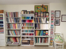 Fabric Organization: Comic Book Boards and File Folders