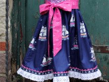 Out to Sea ~ Nautical Girls Dress