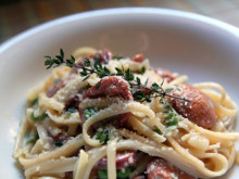 Cajun Sausage Pasta with Cream Sauce ~ Recipe